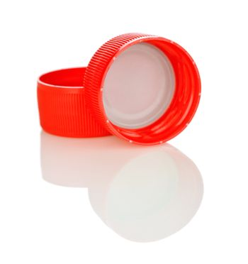 two red lid isolated