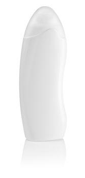 white clean bottle of shampoo