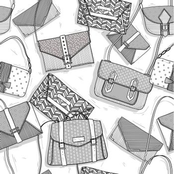 Fashion bags seamless pattern for girls