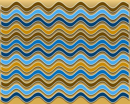Summer wavy pattern
