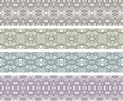 Set of Borders with Aztec Ornament. Interesting Solutions for Your Design