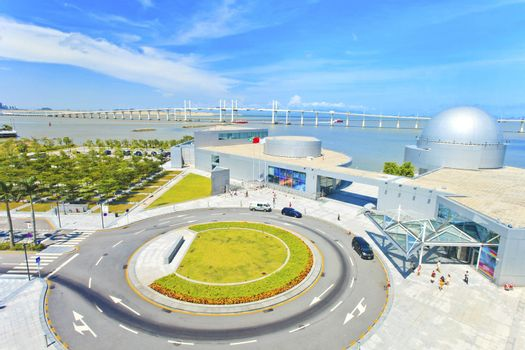 Roundabout in Macau modern city at day