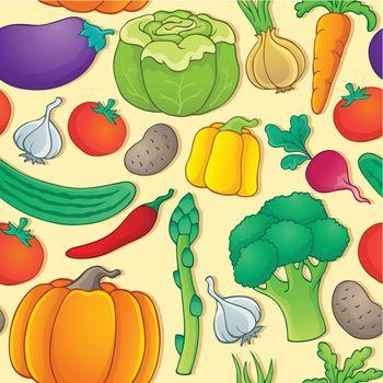 Seamless background vegetable 1 - eps10 vector illustration.