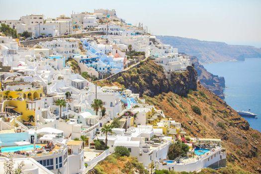 Amazing view of Firostefani village in Santorini,Greece