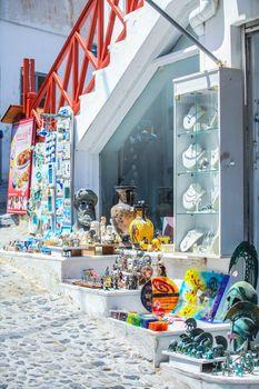 Traditional Greek shop at Santorini, Greece