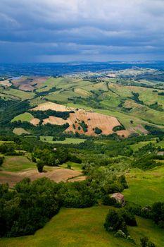 green lush countryside