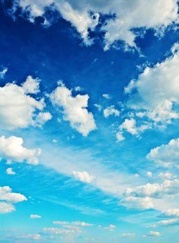 contrast blue sky