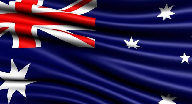 Flag of Australia. Close-up.
