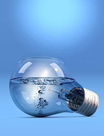 LightBulb with water