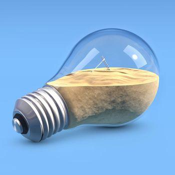 LightBulb with sand