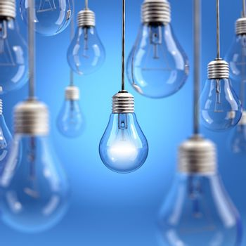 Light bulb background