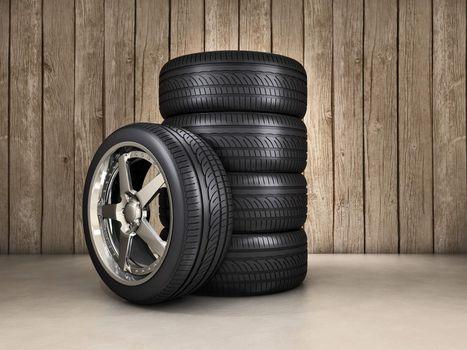 Wheels background