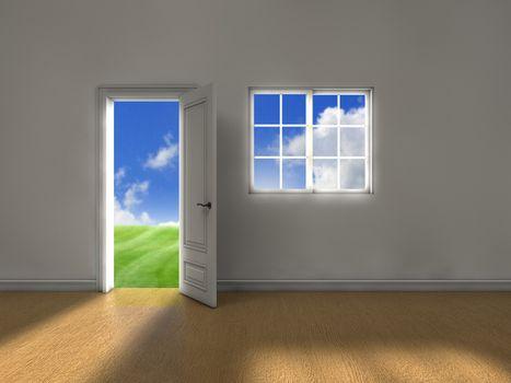 Clean weather door