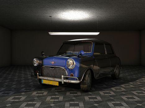 Mini in the garage