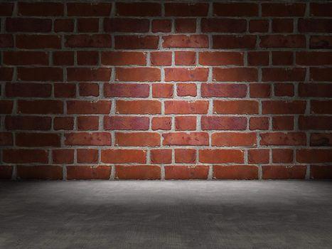 Brick and concrete
