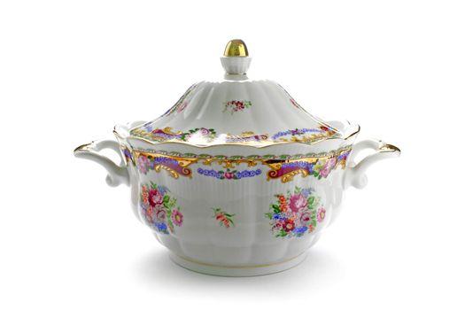 Traditional porcelain tureen