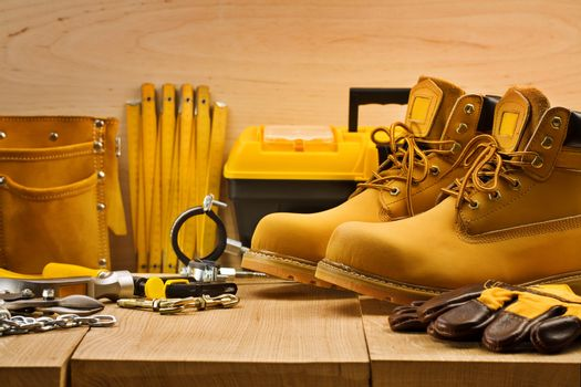 tools on boards