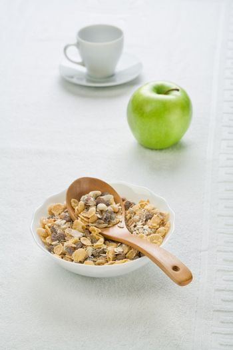 dietary food with tableware