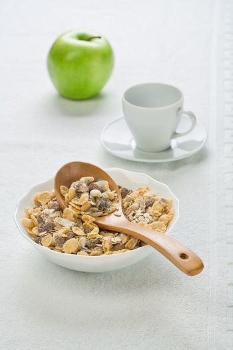 healthy food in tableware