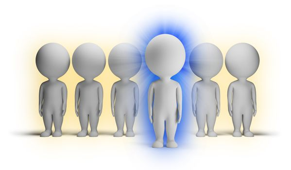 3d small people - indigo