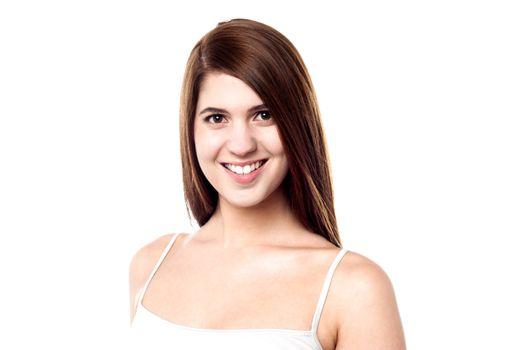 Attractive caucasian female model