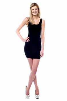 Cute caucasian female model