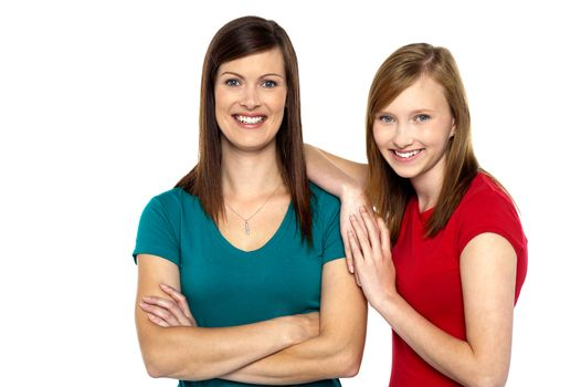Pretty teenager girl with her mother