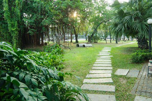 the route walks in public park