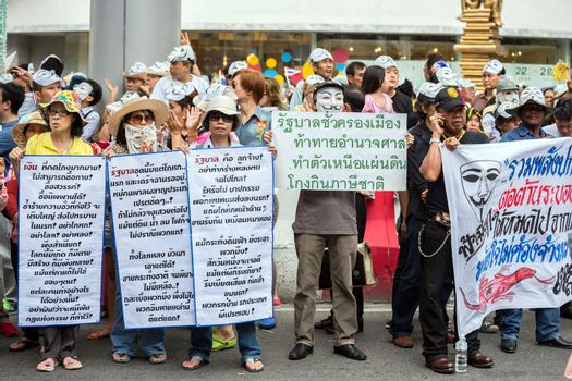 Guy Fawkes anti corruption in Thailand