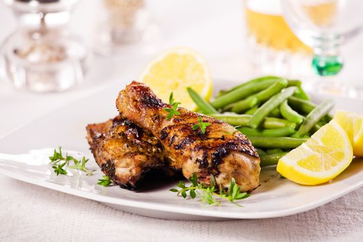Chicken Leg And French Beans