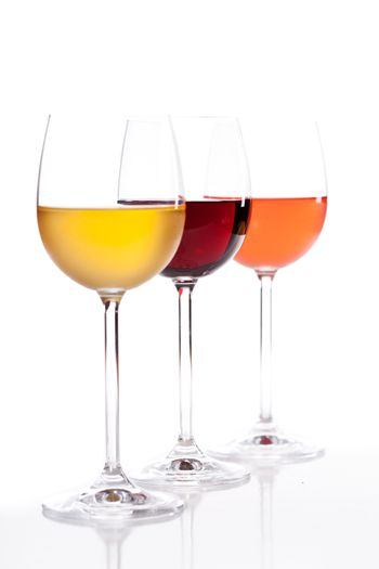 White Red And Rose Wine