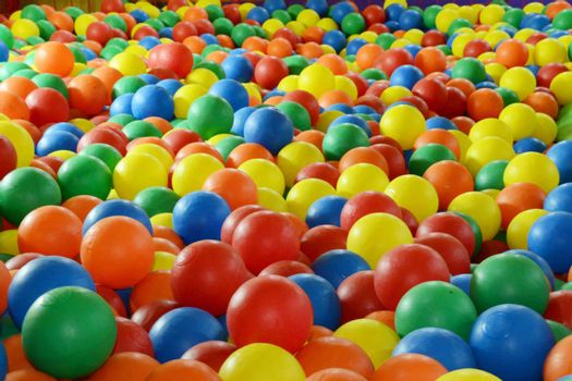colored balls in play center for children