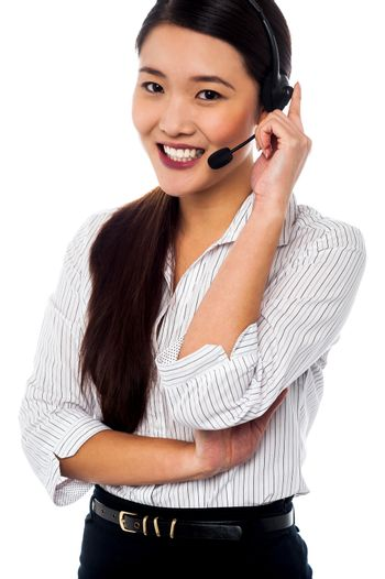 Female customer support staff at your service