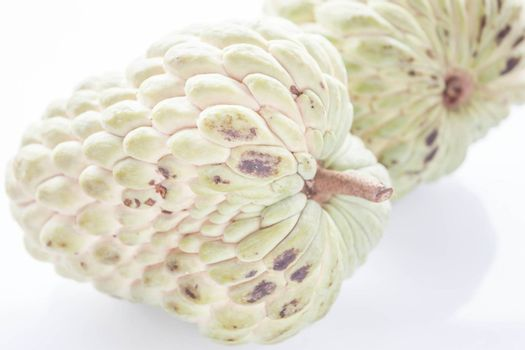 Sugar apple fruit isolated on white background