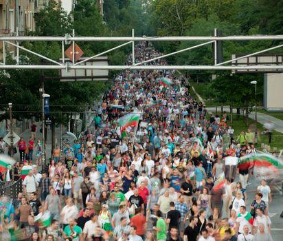 Protest march Bulgaria