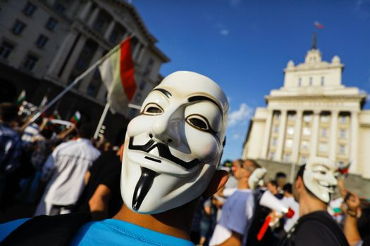 anonymous mask protest