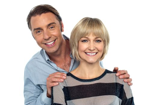 Portrait of husband and wife, smiling warmly