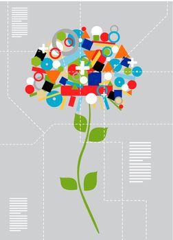 Techno flower concept