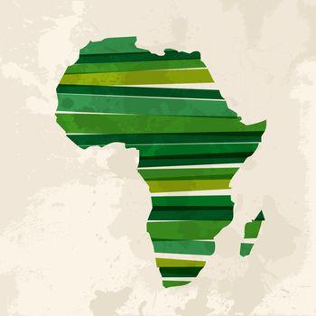 Vintage multicolor Africa