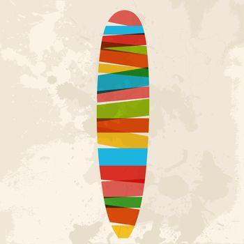 Vintage multicolor surfing