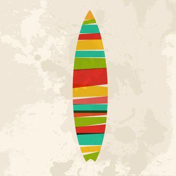 Vintage multicolor Surfboard