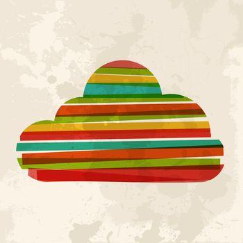 Vintage multicolor cloud