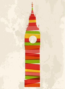 Vintage multicolor Big Ben