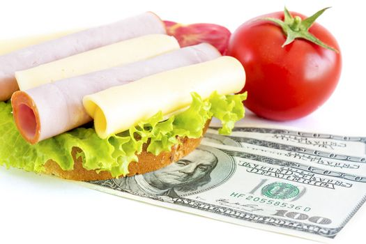 Expensive sandwich