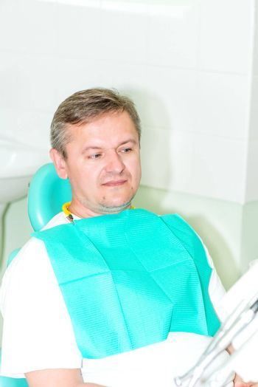 Portrait of men visiting dentist