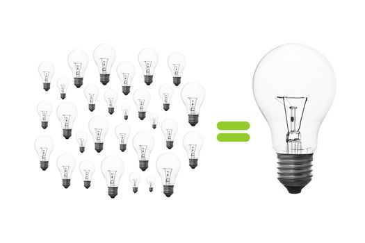 light bulb brainstorming