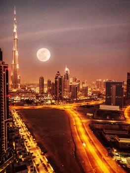 Dubai in moonlight