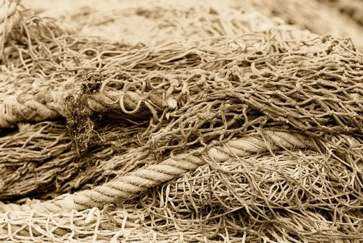 fishing net in bulk