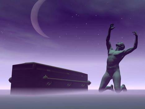 Death causing despair - 3D render