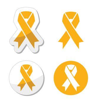 Gold ribbon - childhood cancer symbol